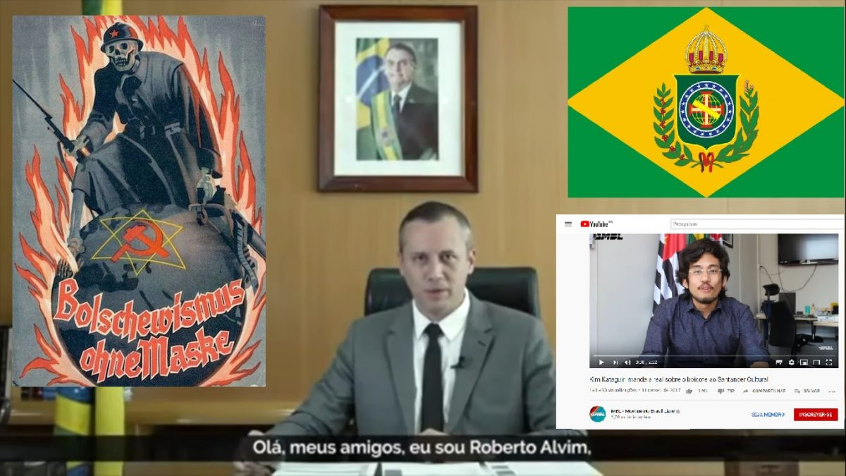 Os que acreditam em marxismo cultural não têm moral para criticar o nazismo de Alvim. Exemplos: MBL, Olavo de Carvalho e Brasil Paralelo.